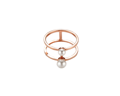 Doublo Pearl Ring